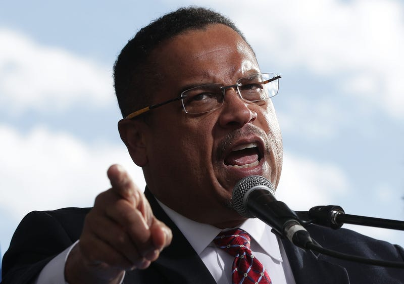 Rep. Keith Ellison (D-Minn.) speaks during a rally on jobs December 7, 2016 at Freedom Plaza in Washington, DC.