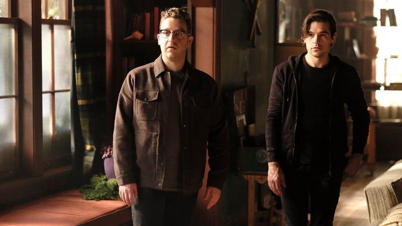 Josh (Trevor Einhorn) and Quentin (Jason Ralph)  in the season four finale of The Magicians.