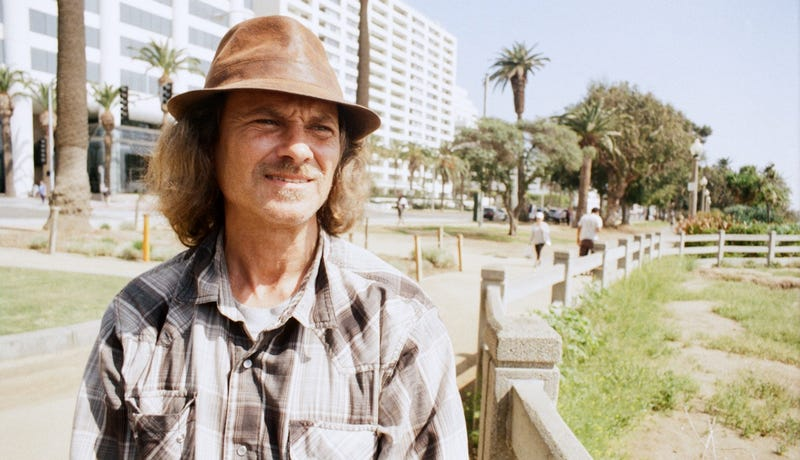 Bill Landreth, former teen hacker of the early 1980s, now homeless in Santa Monica on March 18, 2016 (Photo by Matt Novak)