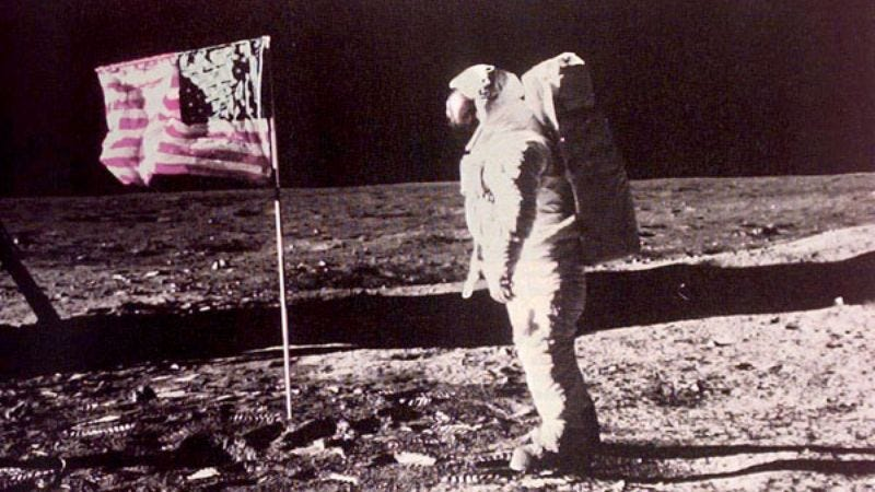 """A 1969 photo showing Armstrong, or anyone, really, standing on the surface of the """"moon."""""""