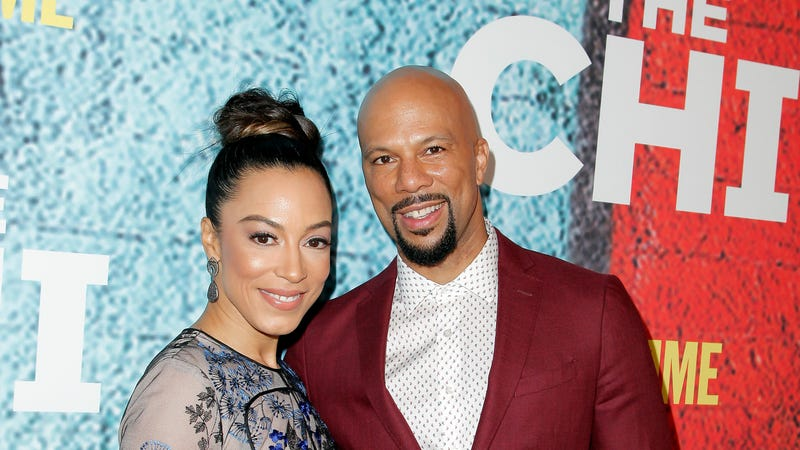 Angela Rye and Common attend the premiere of Showtime's 'The Chi' on January 3, 2018 in Los Angeles, California.