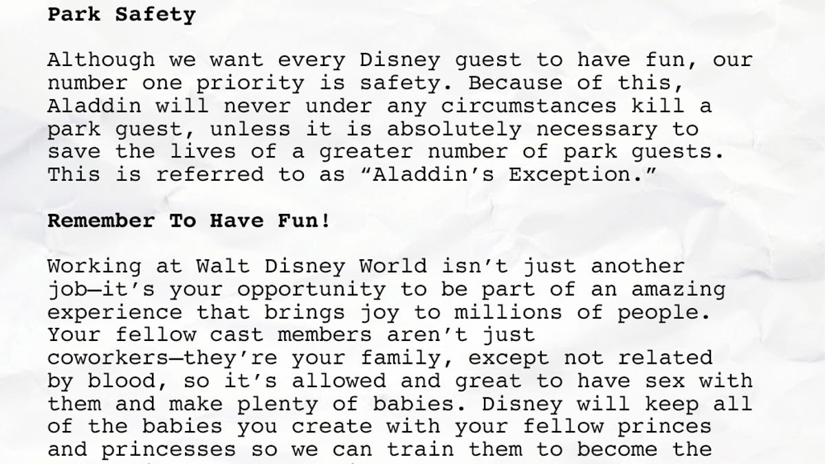 This Is The Handbook Each Actor Who Plays Aladdin At Disney