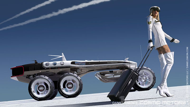 Illustration for article titled The awesome futuristic vehicle designs of Daniel Simon