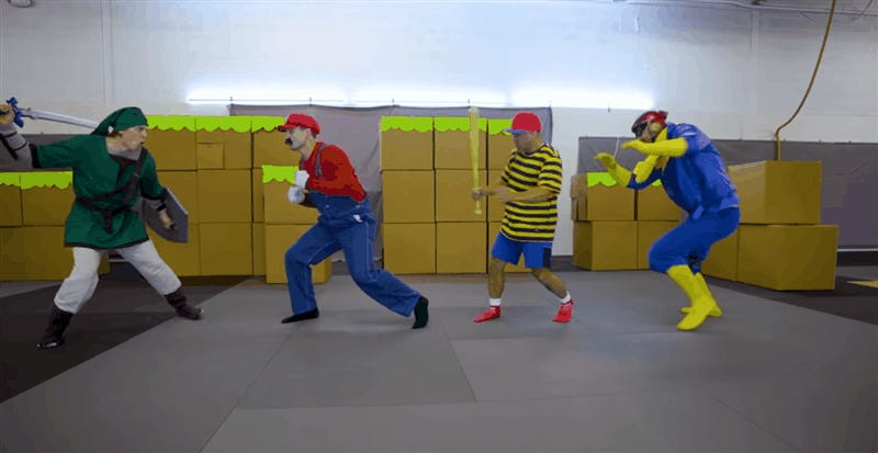 Marvel Stuntmen Recreate Super Smash Bros.