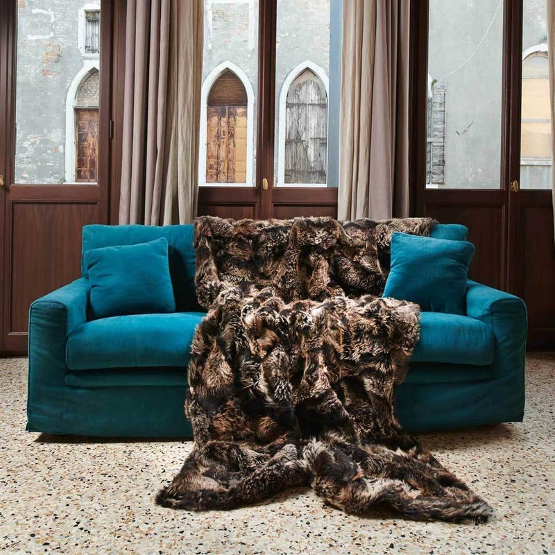 Illustration for article titled Luxury Real Fur Blankets, Throws & Pillows made with Authentic Toscana Sheep Fur