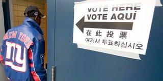 A black voter in Harlem (Don Emmert/Getty Images)