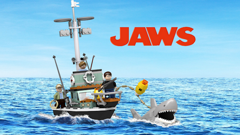 Illustration for article titled Jaws Lego Set
