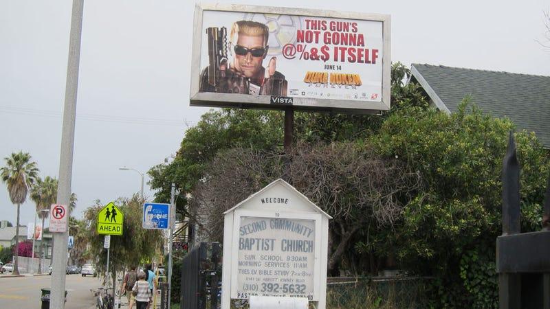 Illustration for article titled When Duke Nukem Forever Advertising Goes Horribly Wrong