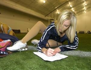 Illustration for article titled Patriots Other Young Cheerleader Follows Well-Traveled Path to Stardom