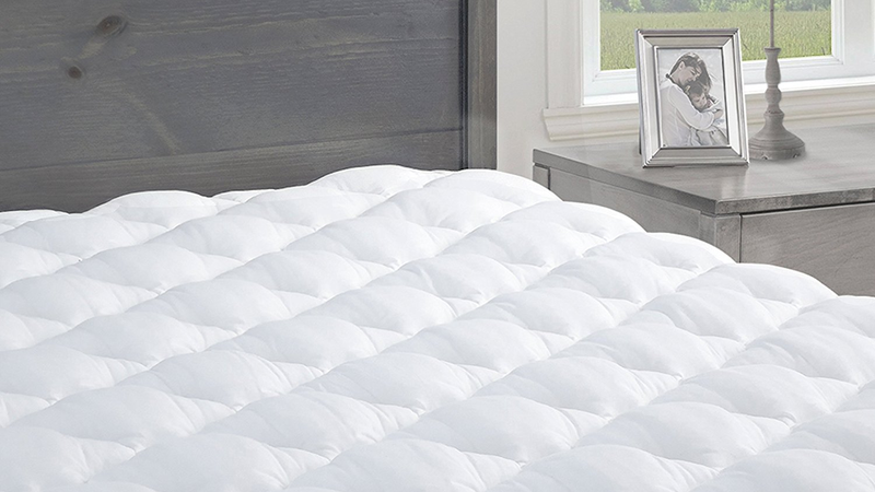 Pressure Relief Mattress Pad with Fitted Skirt | $64 - $83 | Amazon