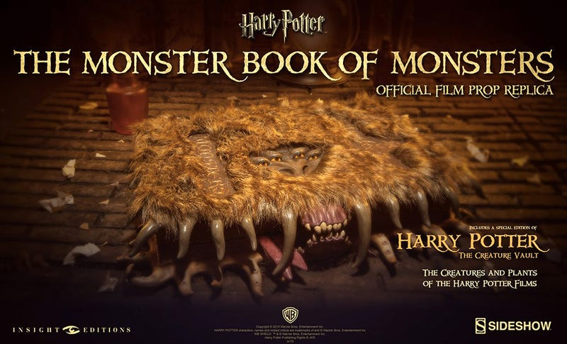Illustration for article titled Continue Your Hogwarts Studies With a Monster Book of Monsters Replica