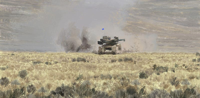 Illustration for article titled Observe The Future Tank, At Play In Its Native Habitat