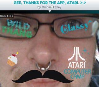 Illustration for article titled Atari Randomly Makes A Facebook Photo App