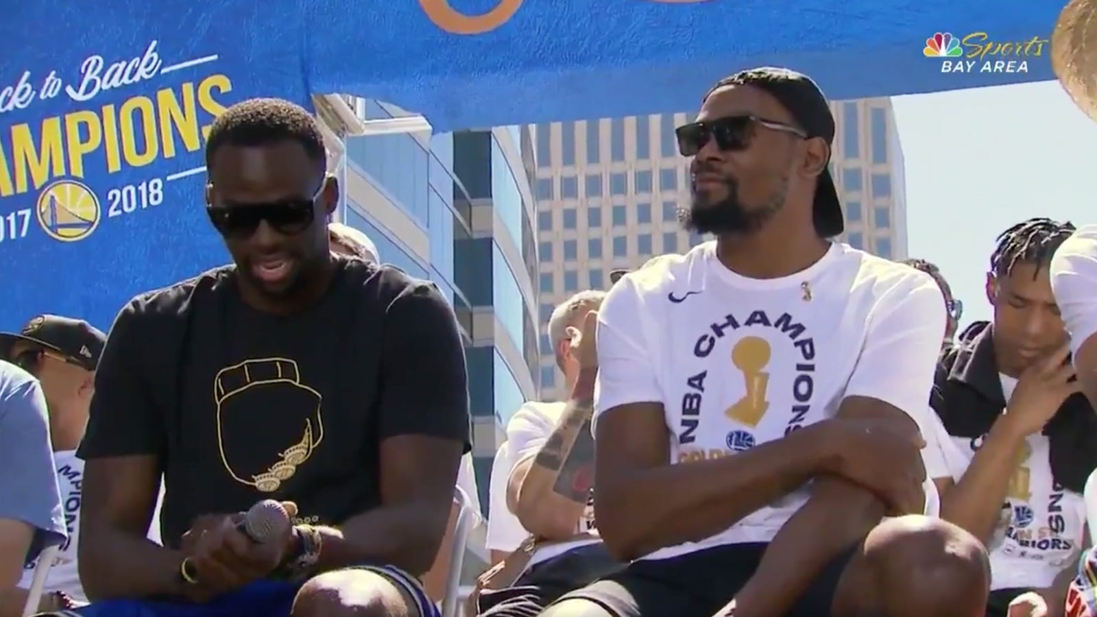 ee4f7468dba Draymond Green Has Once Again Mocked LeBron James With His Championship  Parade T-Shirt