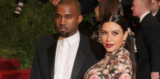 Kanye West and Kim Kardashian (Dimitrios Kambouris/Getty Images)