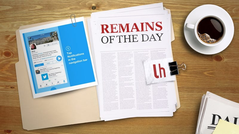 Illustration for article titled Remains of the Day: Twitter's New Filter Aims to Remove Trolls From Your Notifications