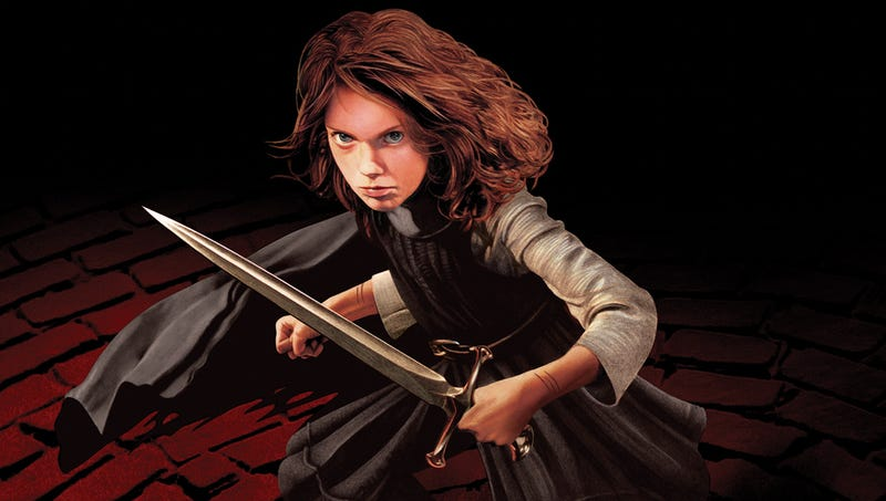 Arya Stark from the 2012 A Song of Ice and Fire calendar. All images by John Picacio.