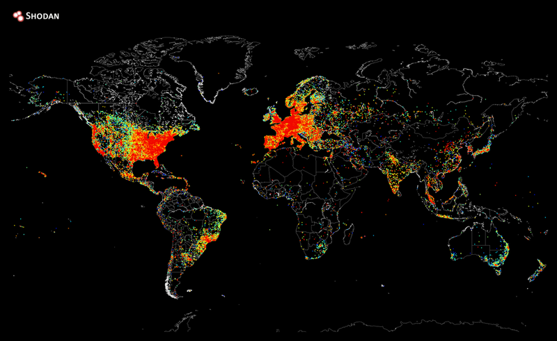 A Map of Every Device in the World Thats Connected to the Internet