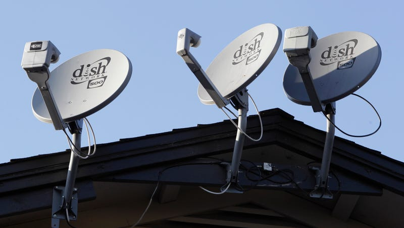 Dish Network satellite dishes in Palo Alto, California, 2011 </figcaption><figcaption class=