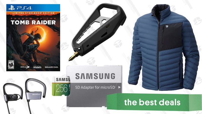 Illustration for article titled Monday's Best Deals: Multitool, Mountain Hardwear, Bluetooth Headphones, and More