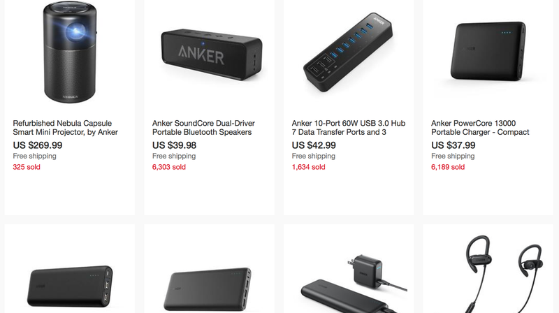 30% off $50+ Anker Purchase | eBay | Discount shown at checkout