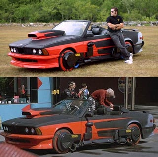 Man restores griff tannen s hover bmw from back to the future 2