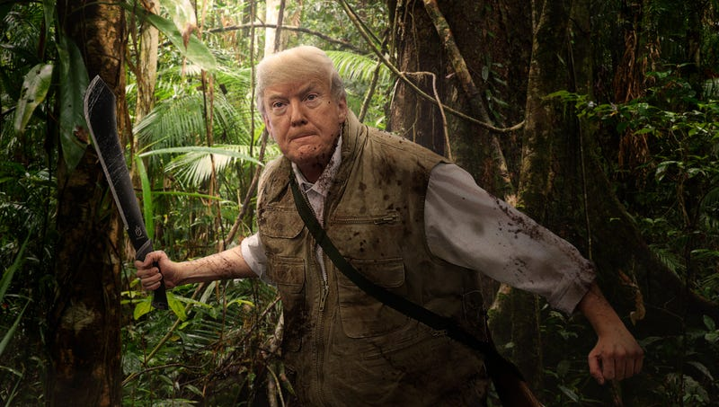 Illustration for article titled Trump Hacks Through Thick Central American Jungle In Search Of Entirely New Ethnic Group To Demonize