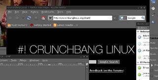 Illustration for article titled CrunchBang is a Speedy, Dark-Themed Linux Desktop