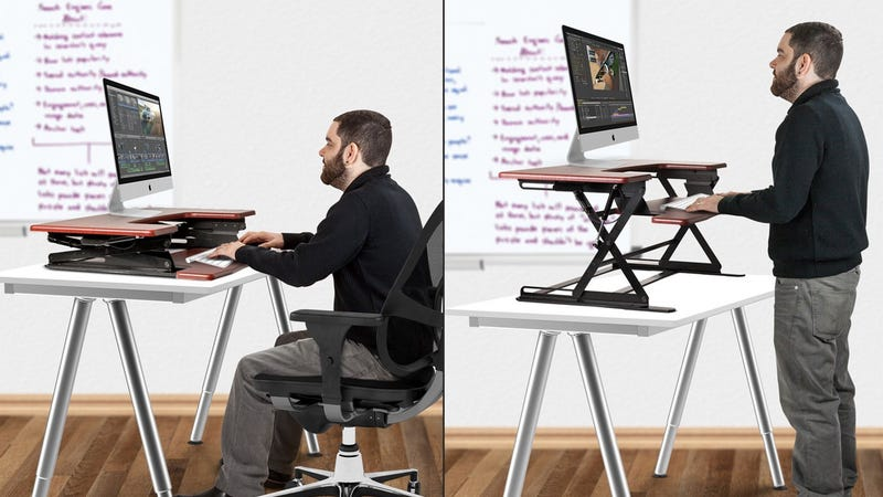Halter ED-258 Preassembled Sit-Stand Desk Riser (Black only) | $150 | Amazon