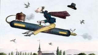 Illustration for article titled The Rocketeer Who Became a 19th Century Obsession