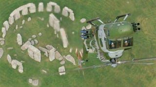 Illustration for article titled A Lynx Doing A Loop Over Stonehenge Is About As Crazy Cool As It Gets