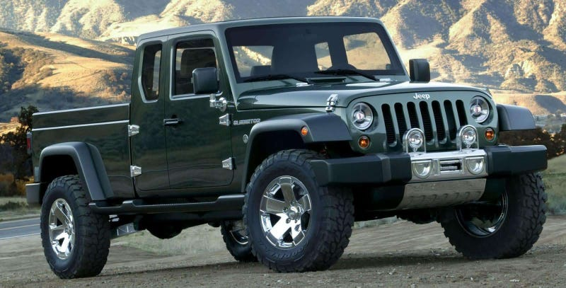 Illustration for article titled A Jeep Wrangler Pickup Is Finally Coming: Report