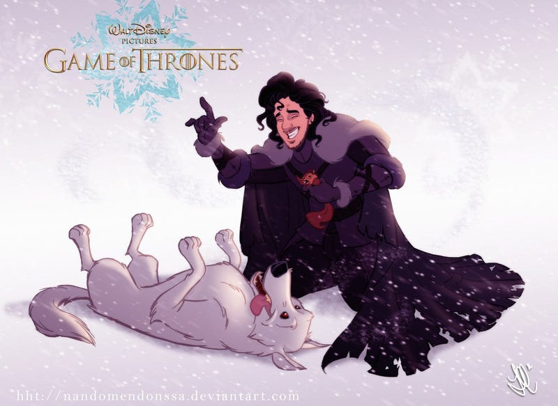Illustration for article titled If Disney Made A Game Of Thrones Cartoon