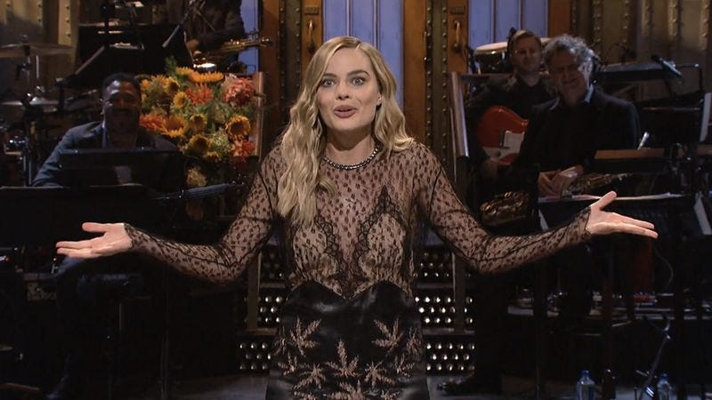 Snl launches season 42 with margot robbie and a high profile new margot robbie screenshot nbc m4hsunfo