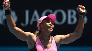 Serena Williams at the 2014 Australian Open tennis tournament in Melbourne on Jan. 17, 2014SAEED KHAN/AFP/Getty Images