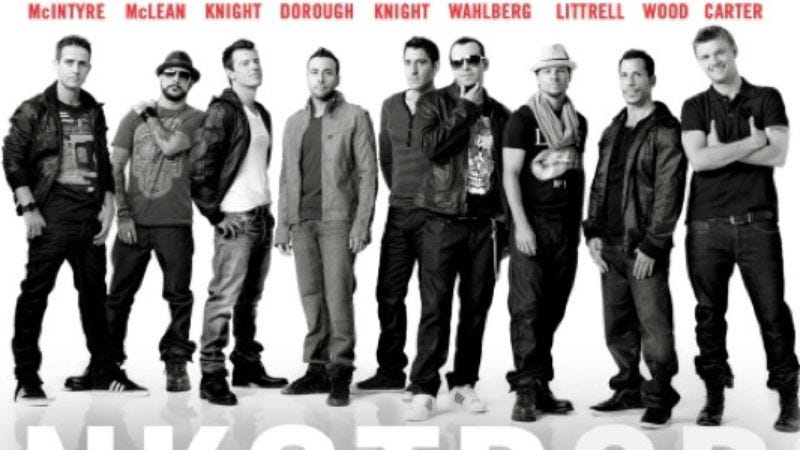 Illustration for article titled New Kids On The Block + Backstreet Boys = the new boy-band supergroup NKOTBSB