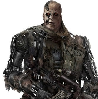 Terminator 4 concept art shows half breed robo killers wow mcg wasnt kidding when he said that terminator 4 was going to be all work and no play this in between terminator concept art looks like a half thecheapjerseys Image collections