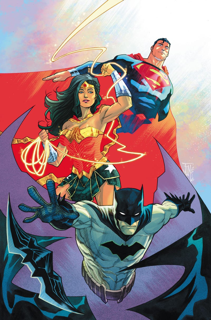 The cover to Trinity #2 by Francis Manapul.