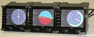 Illustration for article titled Saitek Shows Awesome LCD Displays for Realistic Flight Sim Instrumentation