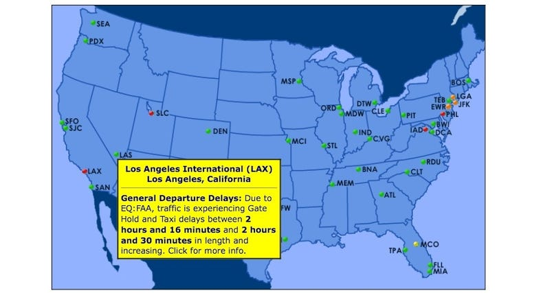 Illustration for article titled Air Traffic Control Outage Causes Major Delays For SoCal Travelers