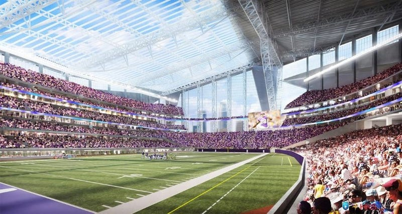 Illustration for article titled This Is The New Vikings Stadium