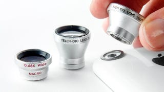 Illustration for article titled Photojojo Lenses Offer Your Phone Telephoto Zoom, Fisheye, and Wide Angle Capability