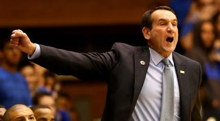 Illustration for article titled Coach K Doesn't Want You To Be So Excited About Exciting Players