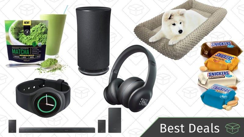 Illustration for article titled Saturday's Best Deals: JBL Headphones, Samsung Multi-Room Speaker, Dog Beds, and More