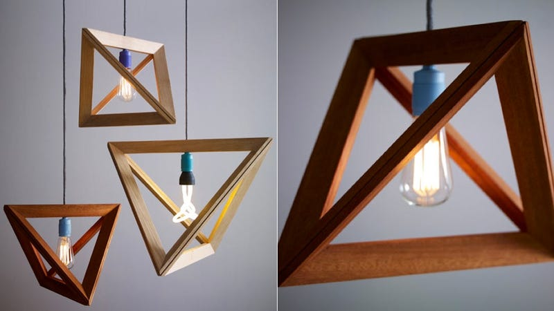 Illustration for article titled Light Bulbs Are Showcased Like Photos in These Geometric Frames