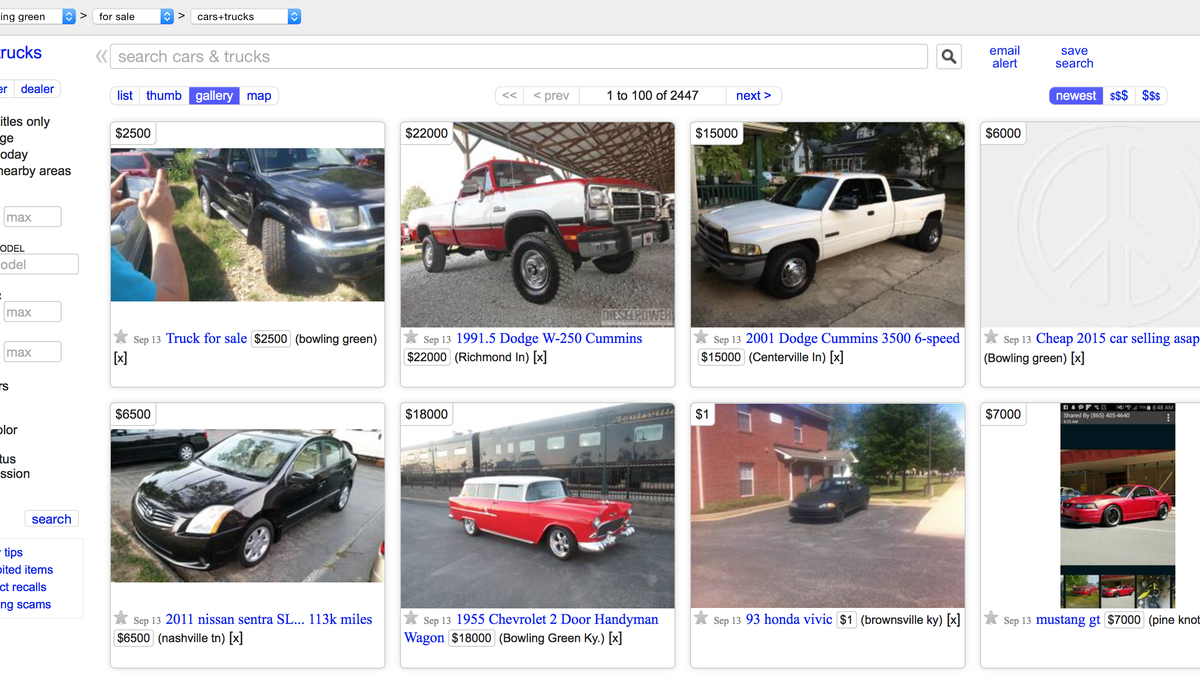 The Ten Best Places In America To Buy A Car Off Craigslist