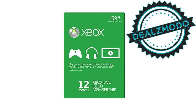 Illustration for article titled $35 For a Year of Xbox Live Gold Is Your Deal of the Day
