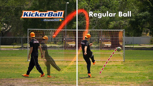 Kickerball - Curve and Swerve Soccer Ball | $19 | Amazon