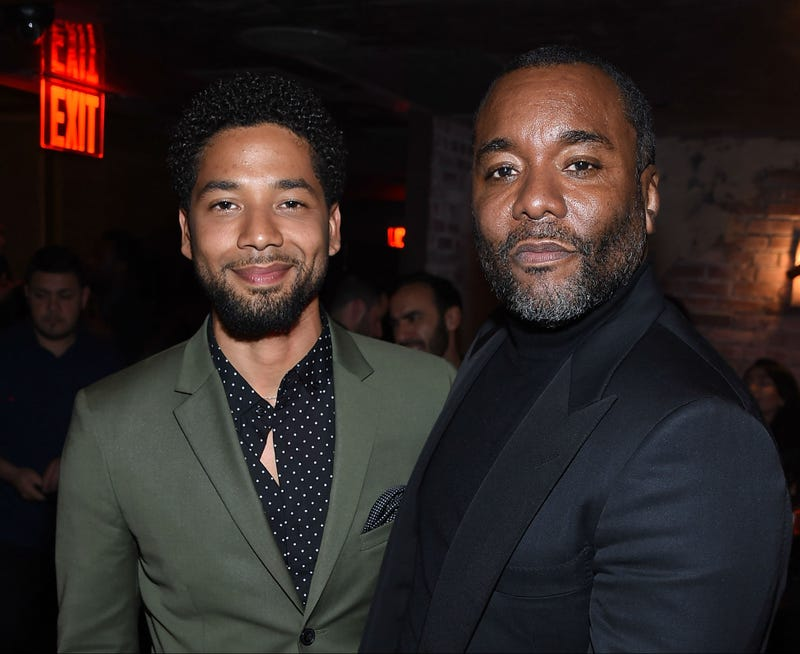 Jussie Smollett and Lee Daniels at a party in New York, April 18, 2017.
