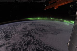 Illustration for article titled The Southern Lights, As Seen From The International Space Station